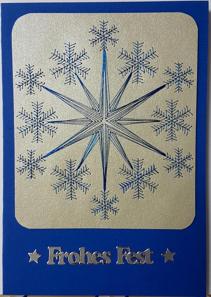 fadengrafik gru karten weihnachten